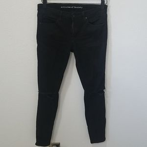 Articles of Society Black Ripped Knee Jeans 27